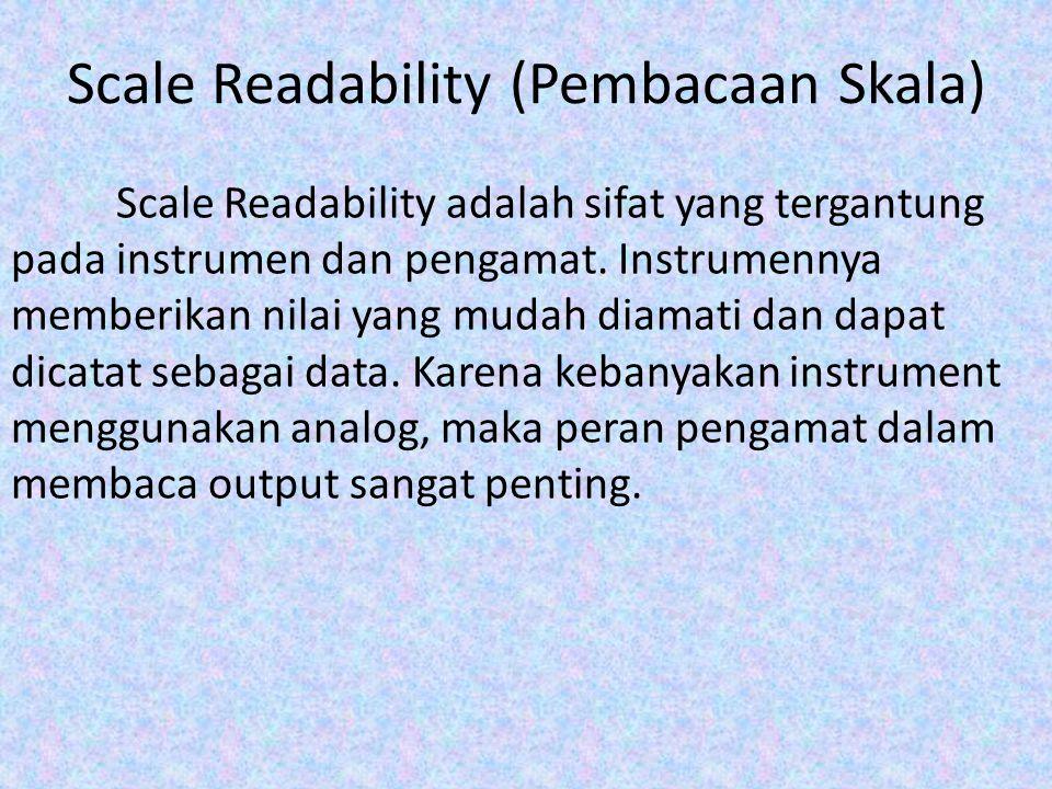 Scale Readability (Pembacaan Skala)