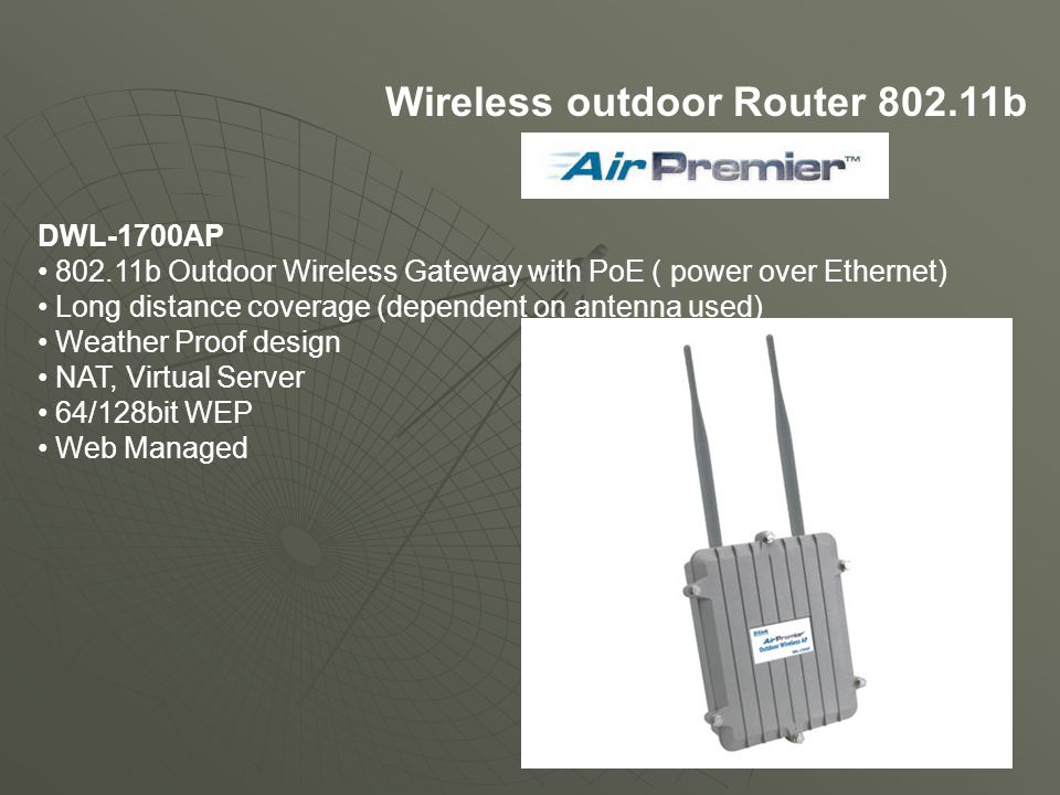 Wireless outdoor Router 802.11b