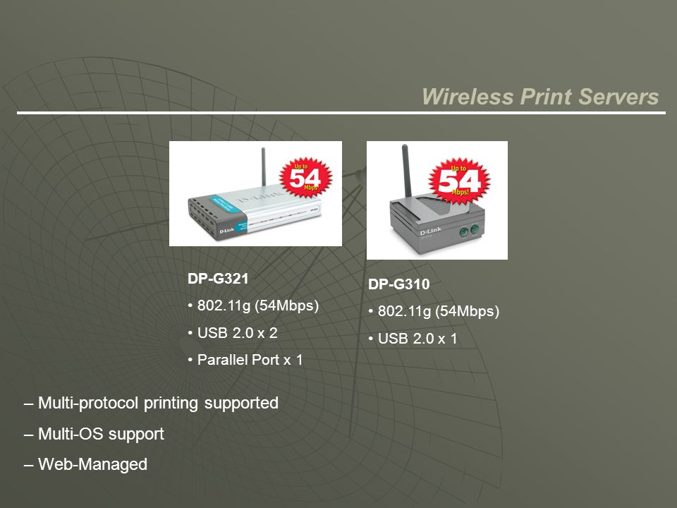 Wireless Print Servers
