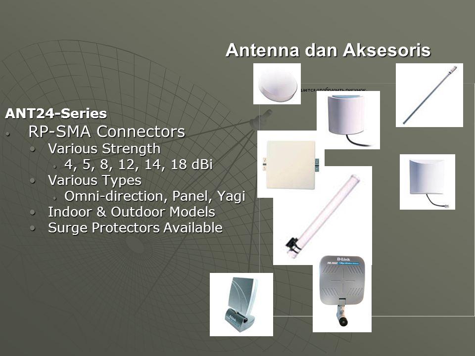 Antenna dan Aksesoris RP-SMA Connectors ANT24-Series Various Strength