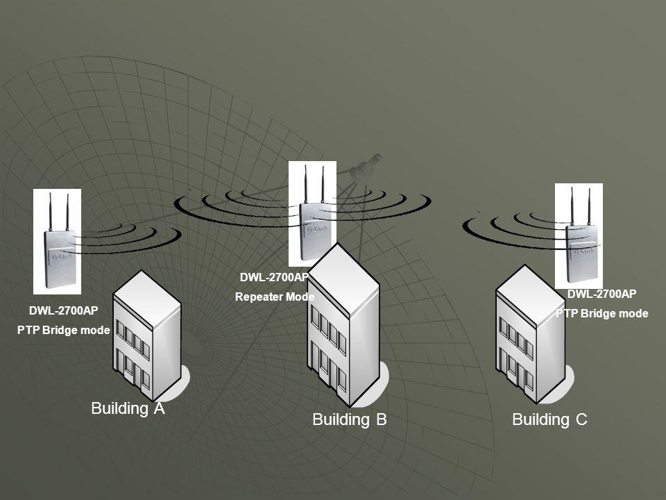 Building A Building B Building C DWL-2700AP Repeater Mode DWL-2700AP