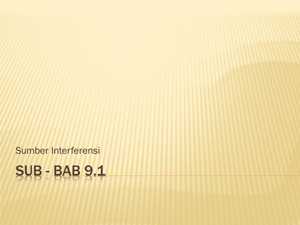 Sumber Interferensi Sub - bab 9.1
