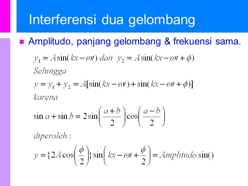Interferensi dua gelombang