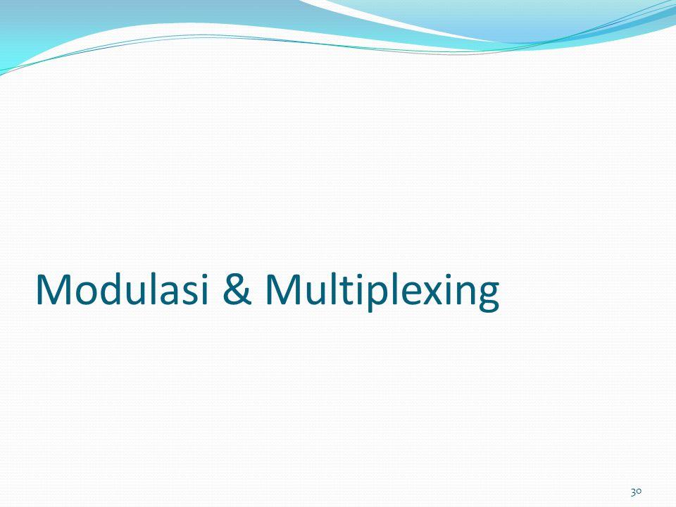 Modulasi & Multiplexing