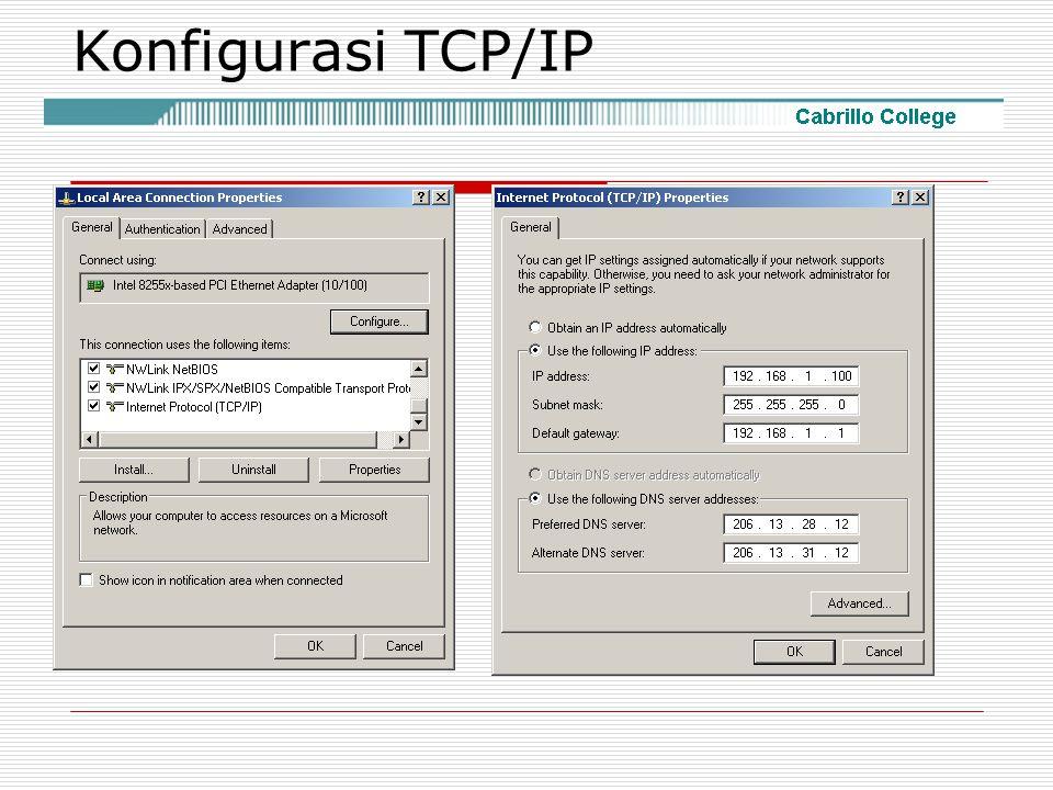 Konfigurasi TCP/IP