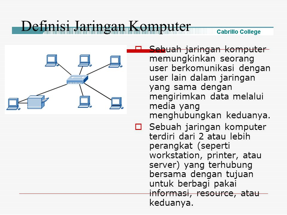 Definisi Jaringan Komputer