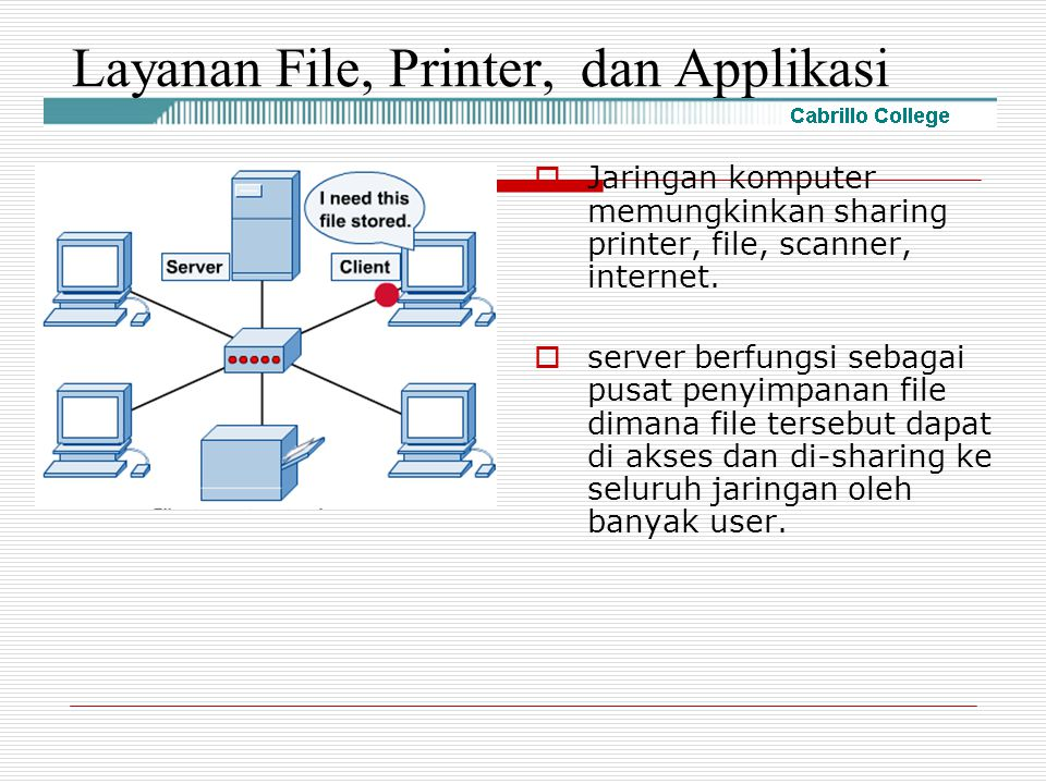 Layanan File, Printer, dan Applikasi