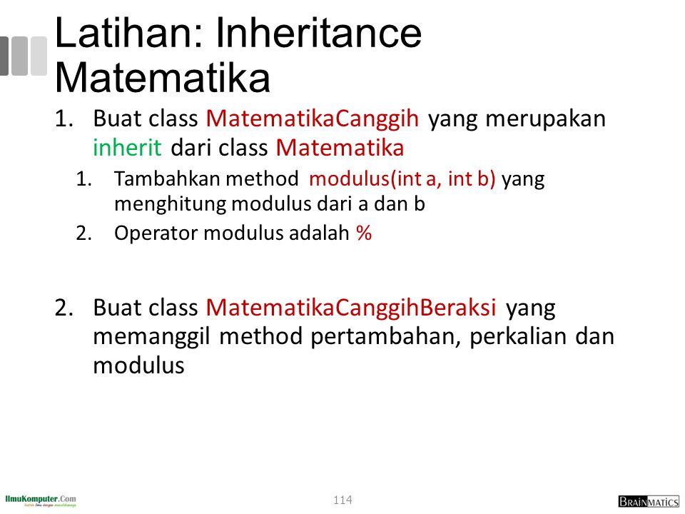 Latihan: Inheritance Matematika