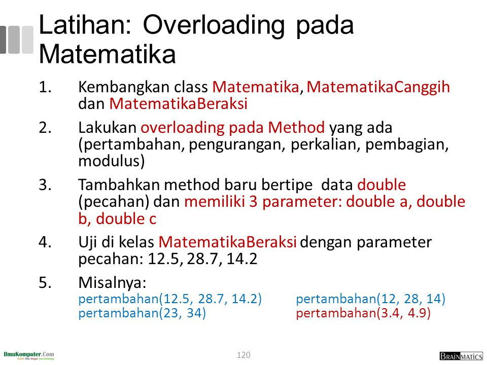 Latihan: Overloading pada Matematika