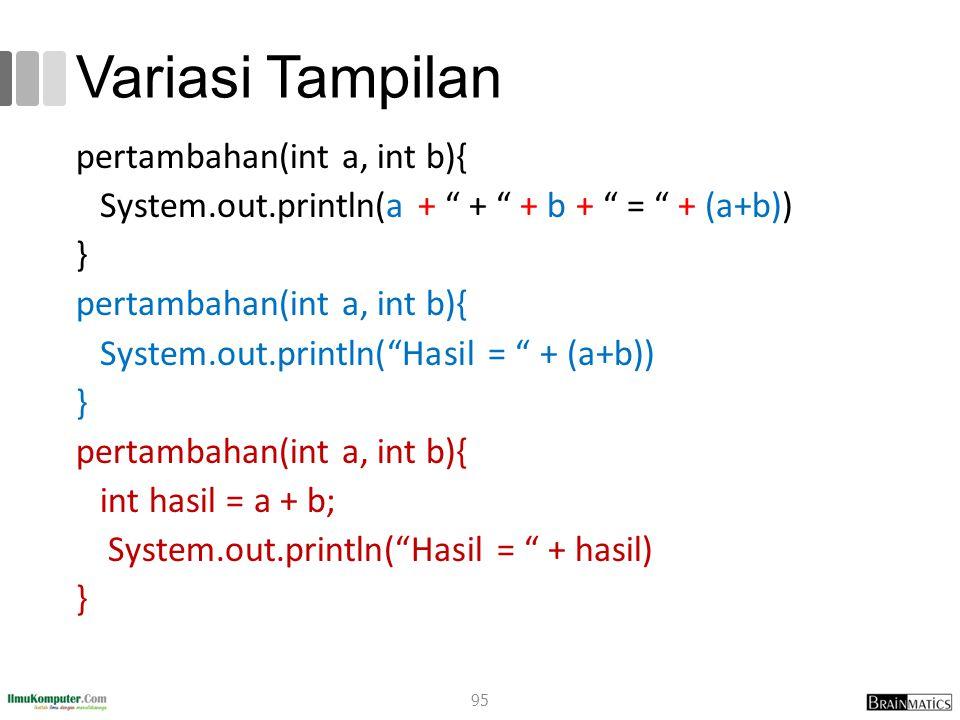 romi@romisatriawahono.net Object-Oriented Programming. Variasi Tampilan.