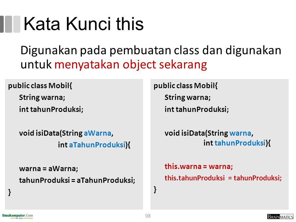 romi@romisatriawahono.net Object-Oriented Programming. Kata Kunci this.