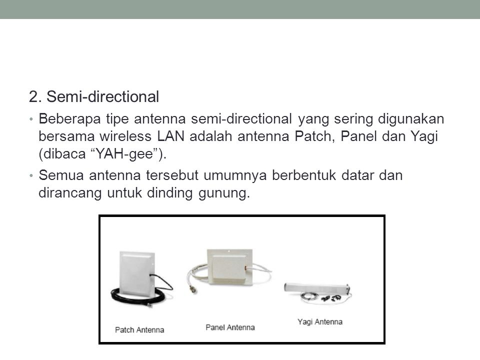 2. Semi-directional