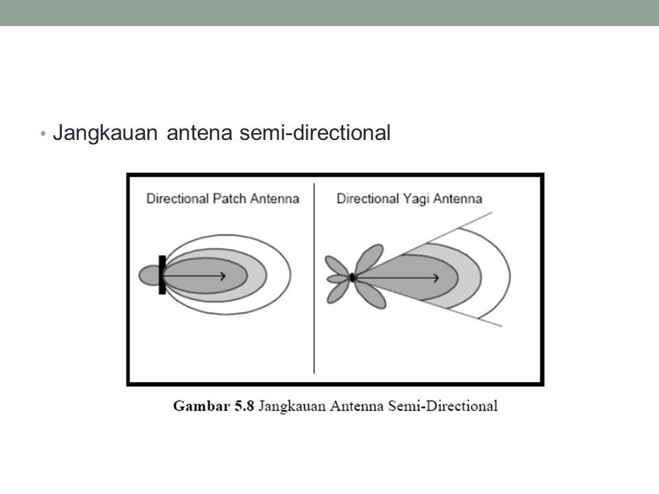 Jangkauan antena semi-directional