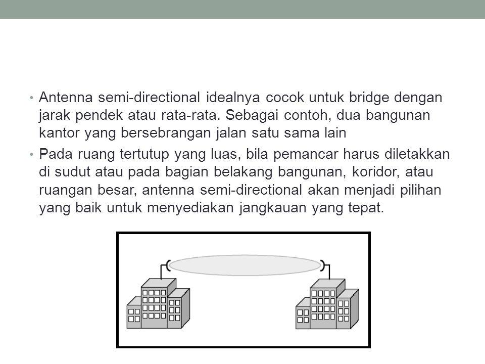 Antenna semi-directional idealnya cocok untuk bridge dengan jarak pendek atau rata-rata. Sebagai contoh, dua bangunan kantor yang bersebrangan jalan satu sama lain