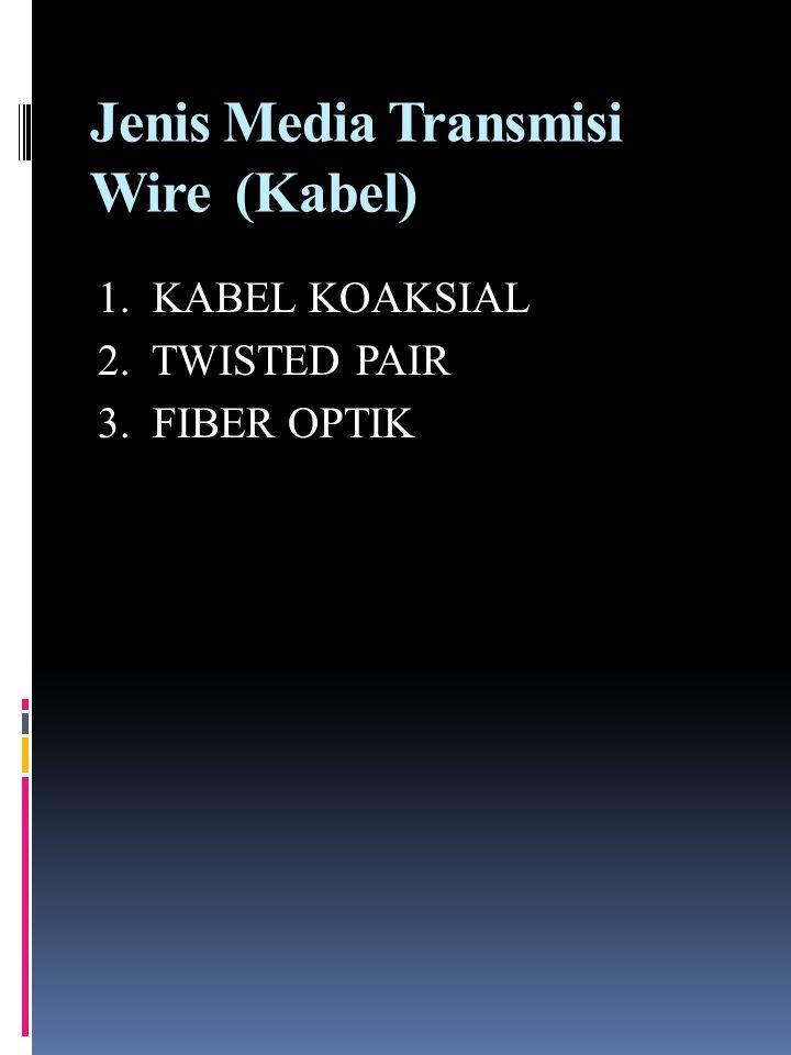 Jenis Media Transmisi Wire (Kabel)