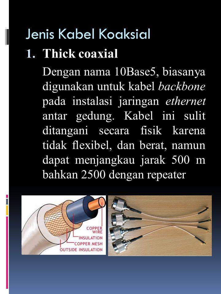 Jenis Kabel Koaksial Thick coaxial