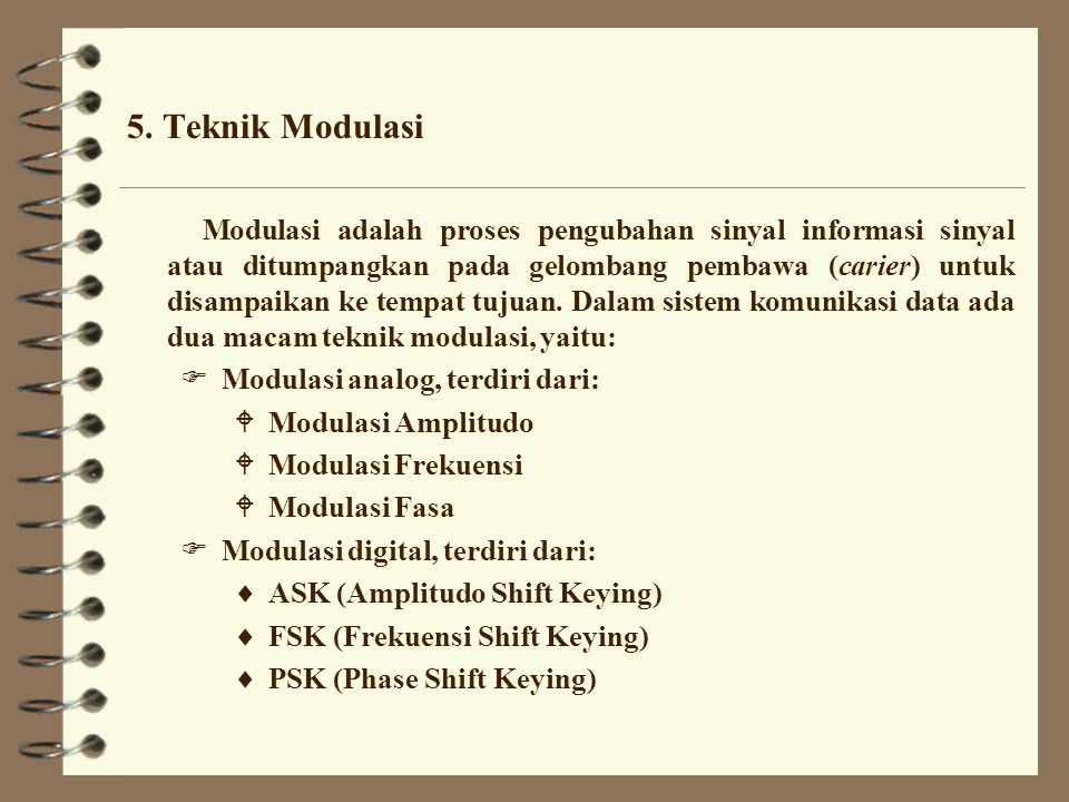 5. Teknik Modulasi