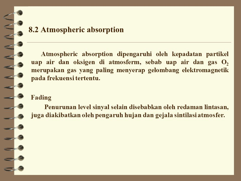 8.2 Atmospheric absorption