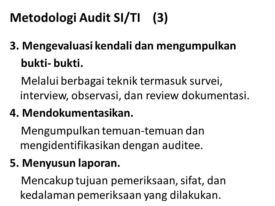 Metodologi Audit SI/TI (3)