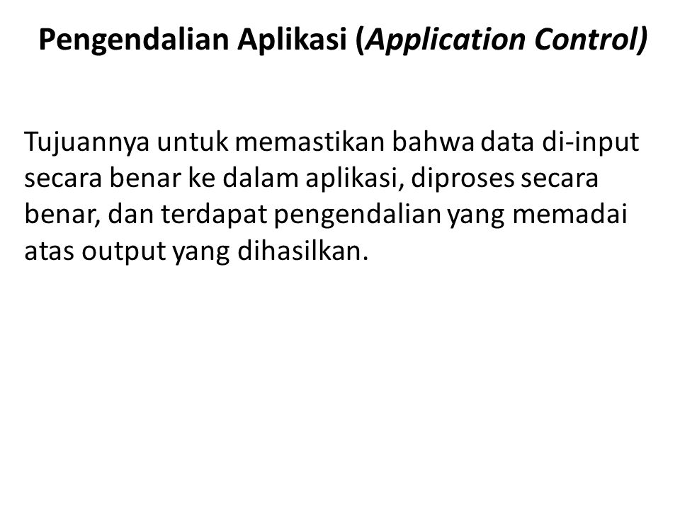 Pengendalian Aplikasi (Application Control)