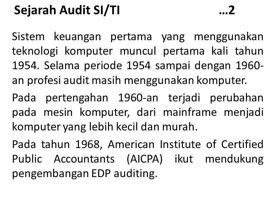 Sejarah Audit SI/TI …2
