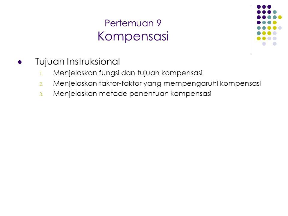 Pertemuan 9 Kompensasi Tujuan Instruksional