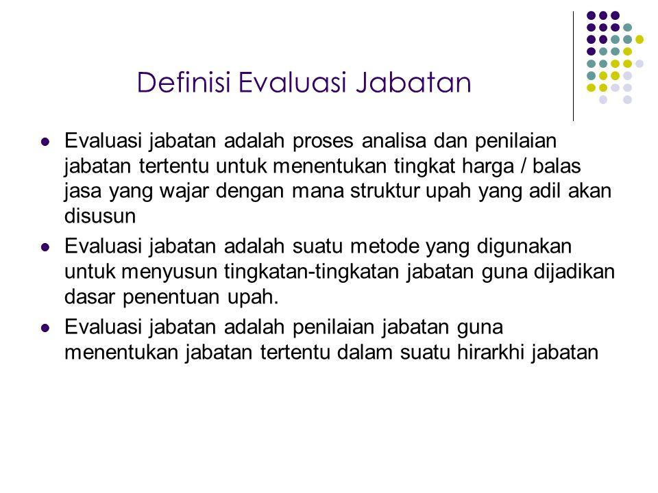 Definisi Evaluasi Jabatan