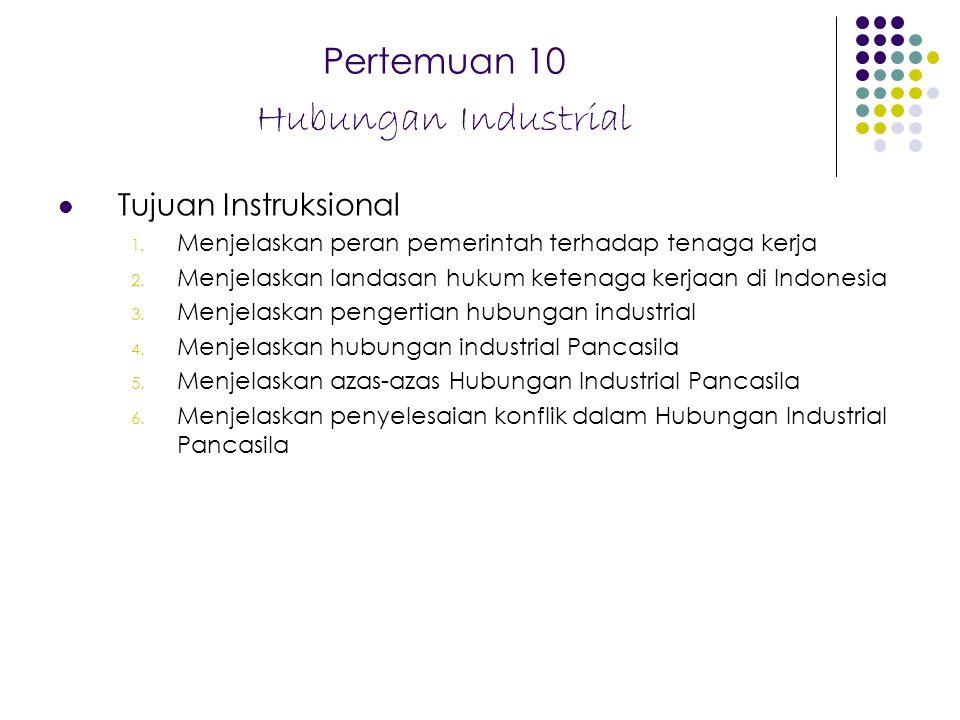 Pertemuan 10 Hubungan Industrial