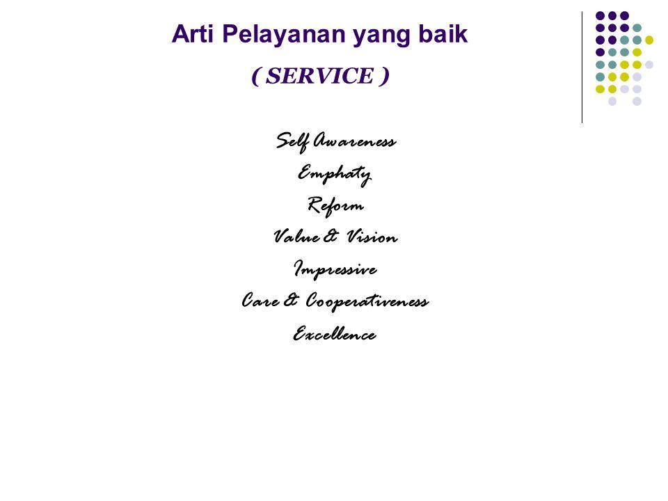 Arti Pelayanan yang baik ( SERVICE )