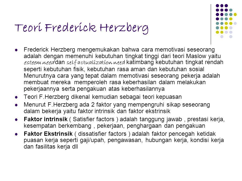 Teori Frederick Herzberg