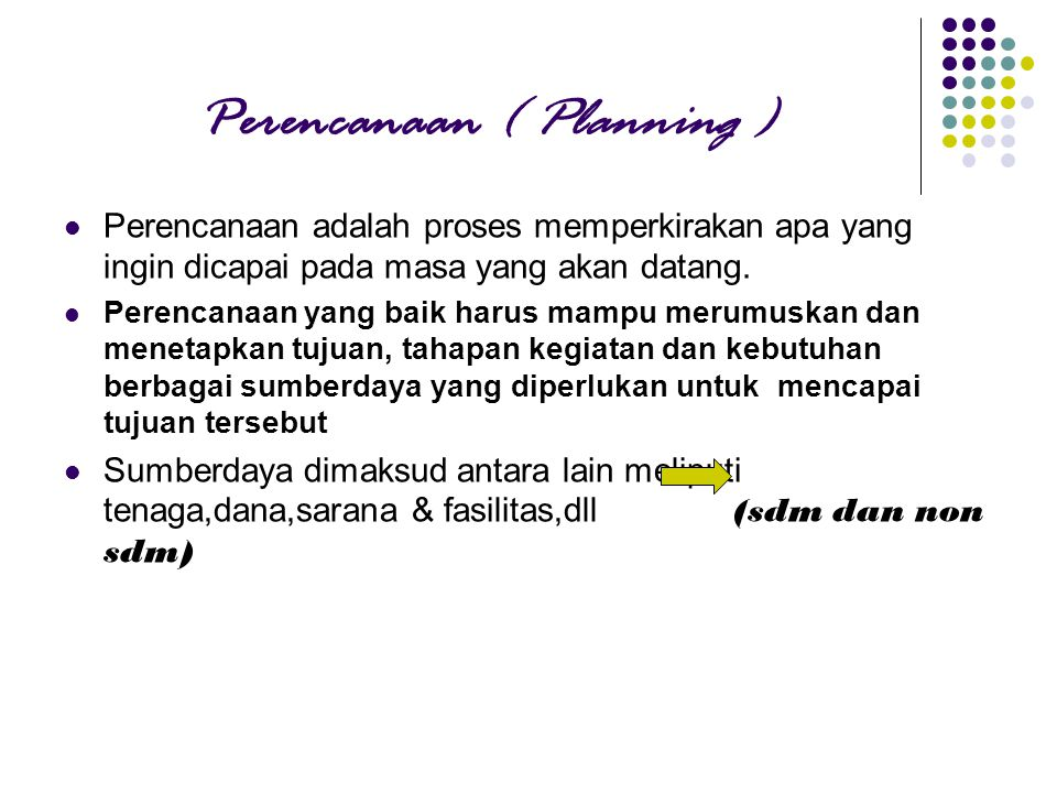 Perencanaan ( Planning )