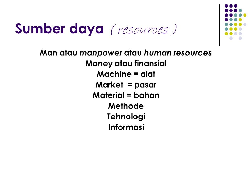 Sumber daya ( resources )