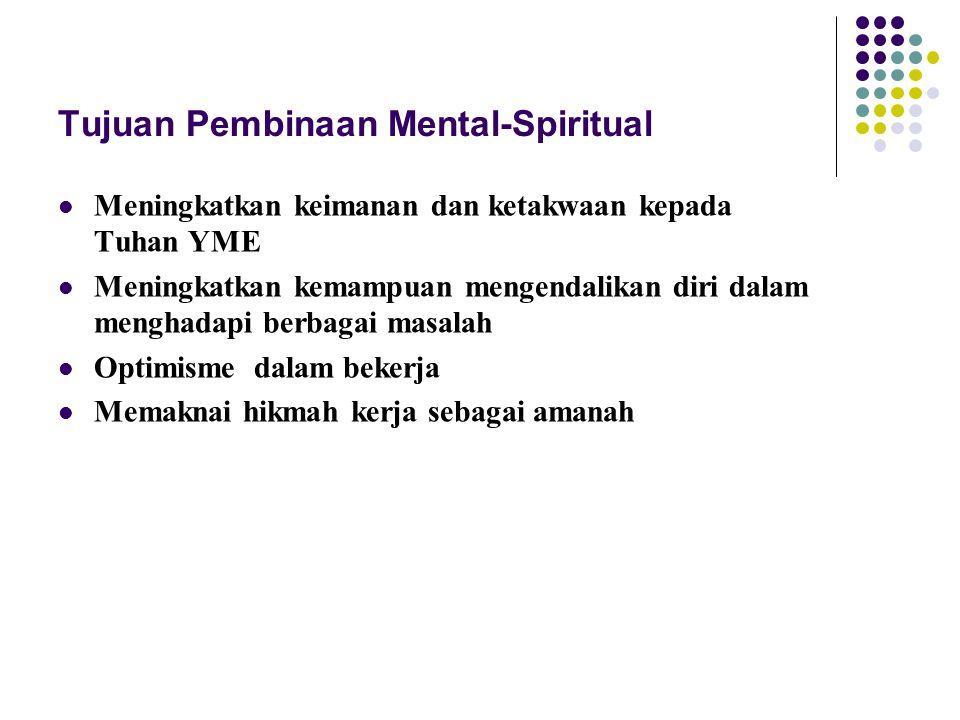 Tujuan Pembinaan Mental-Spiritual