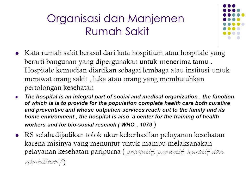 Organisasi dan Manjemen Rumah Sakit