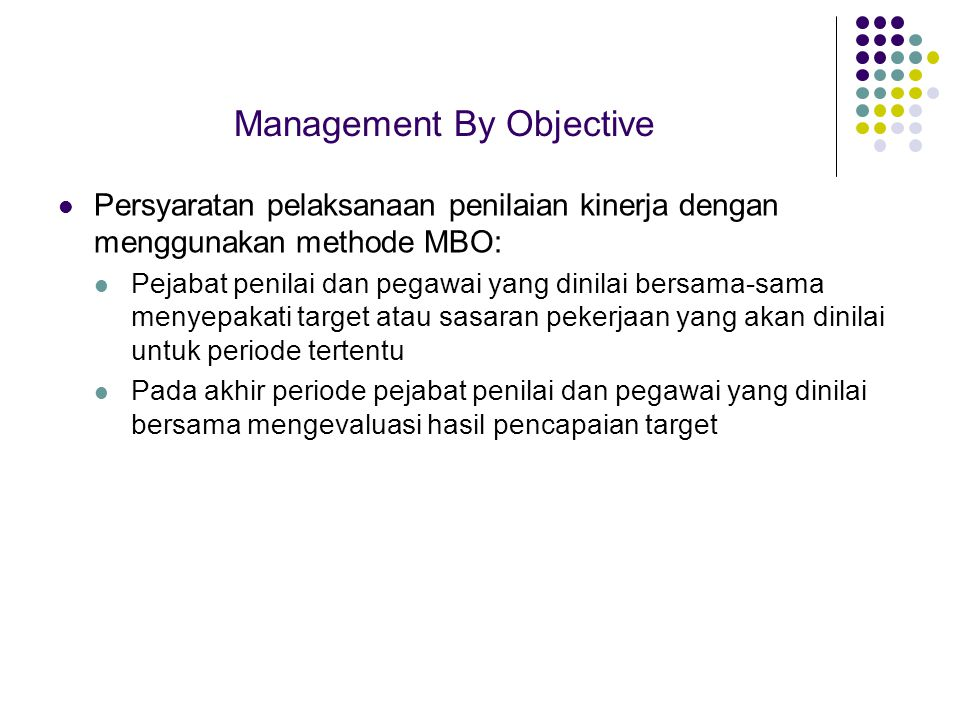 Management By Objective