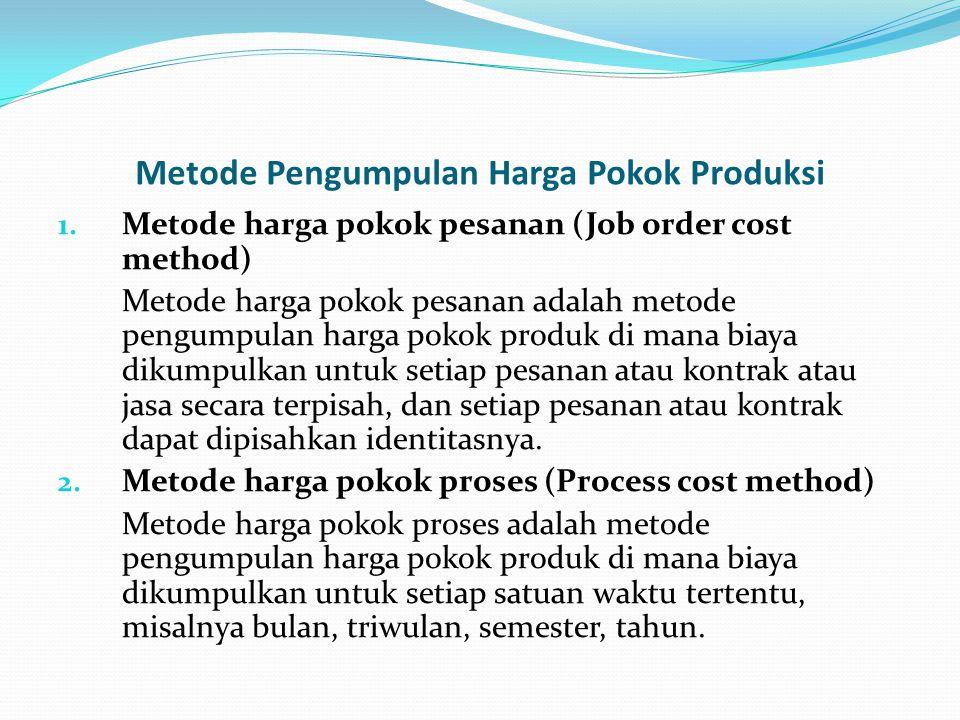 Metode Pengumpulan Harga Pokok Produksi