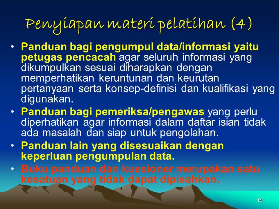 Penyiapan materi pelatihan (4)