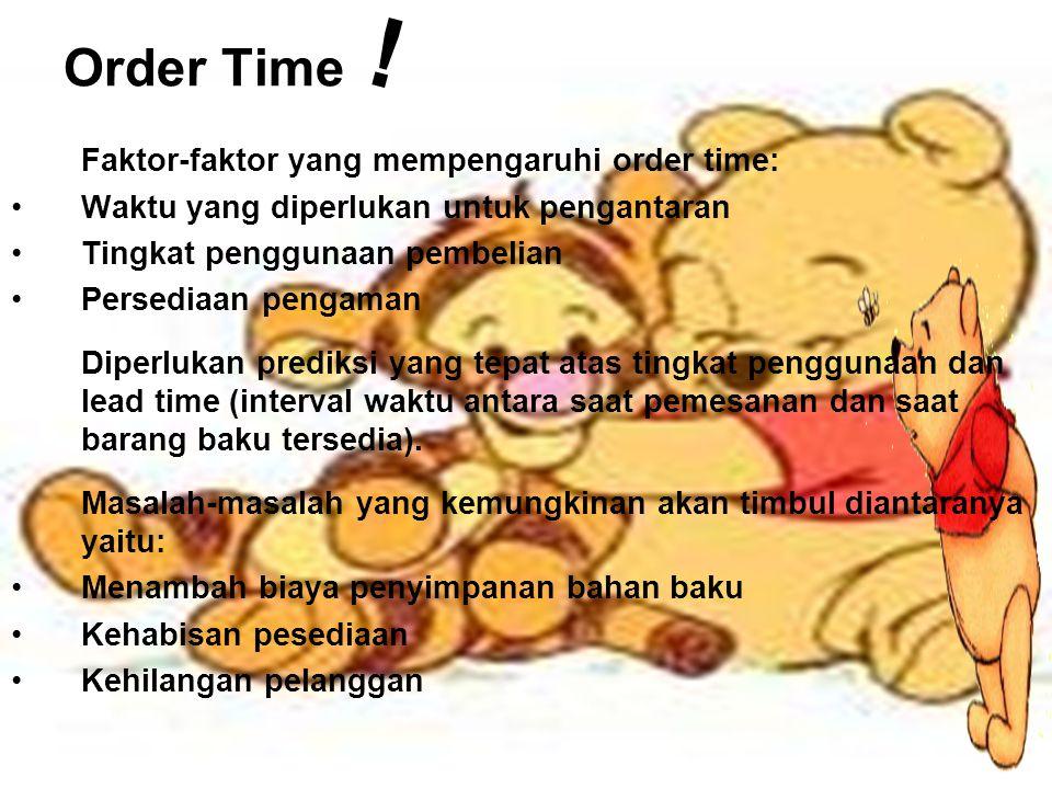 ! Order Time Faktor-faktor yang mempengaruhi order time: