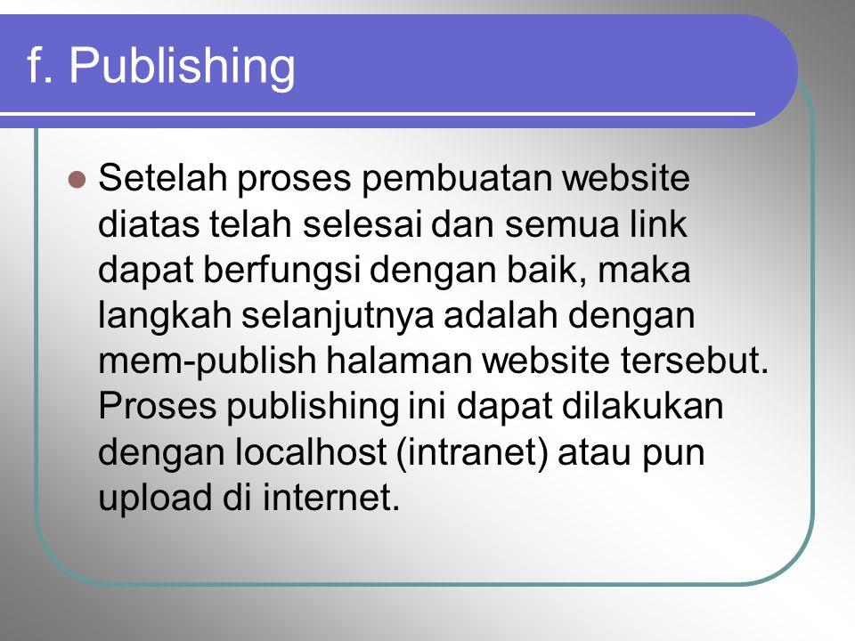 f. Publishing