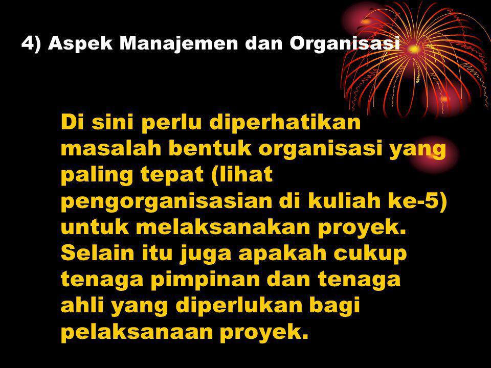 4) Aspek Manajemen dan Organisasi