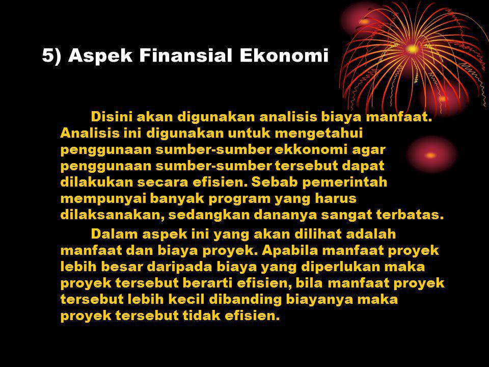 5) Aspek Finansial Ekonomi