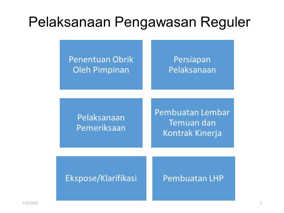 Pelaksanaan Pengawasan Reguler