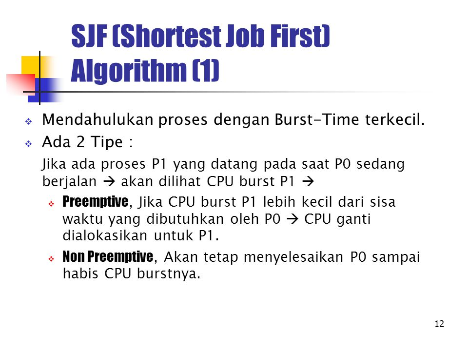 SJF (Shortest Job First) Algorithm (1)