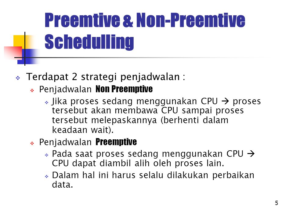 Preemtive & Non-Preemtive Schedulling