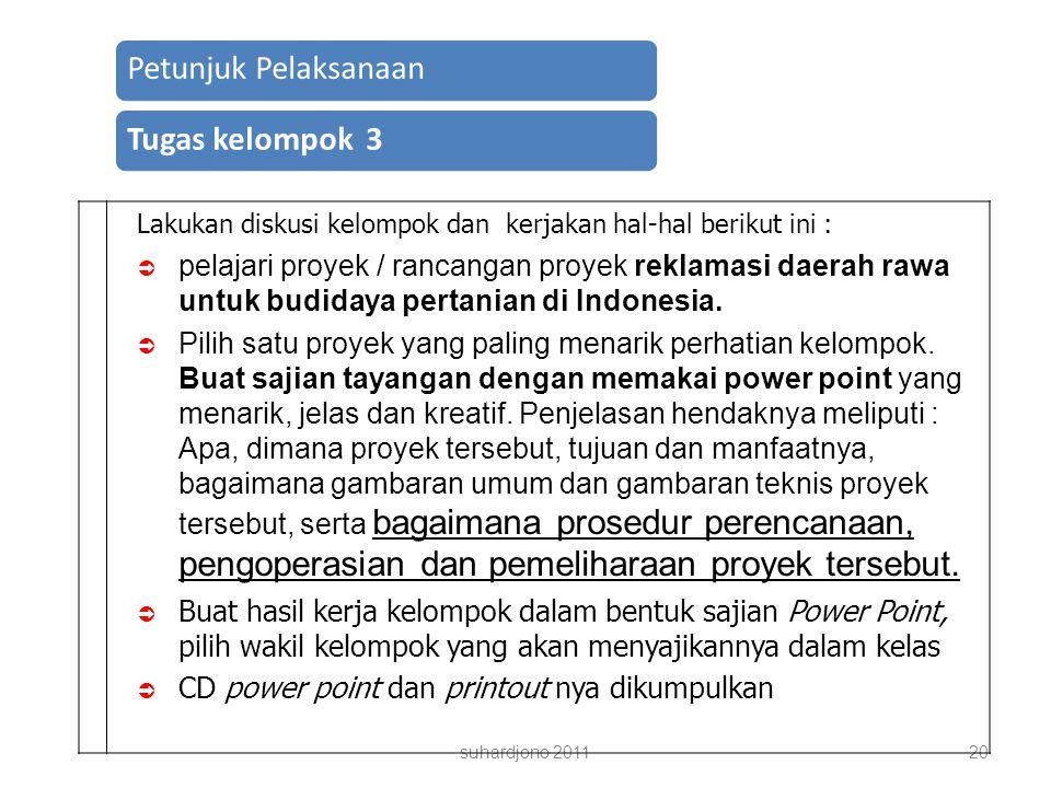 CD power point dan printout nya dikumpulkan