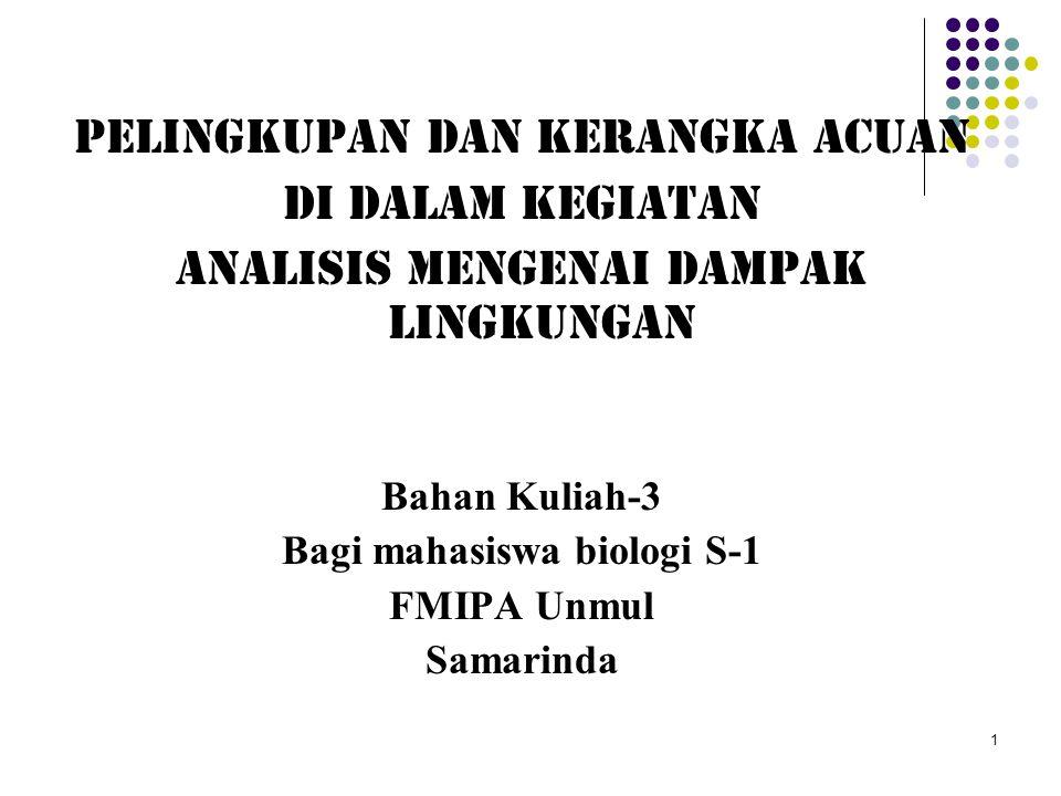 Bagi mahasiswa biologi S-1