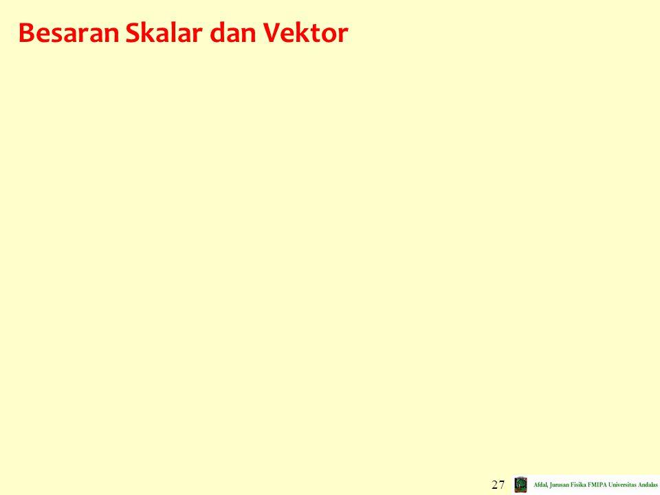 Besaran Skalar dan Vektor