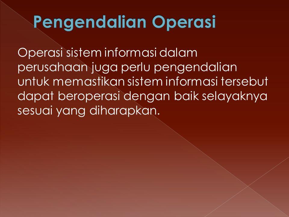 Pengendalian Operasi
