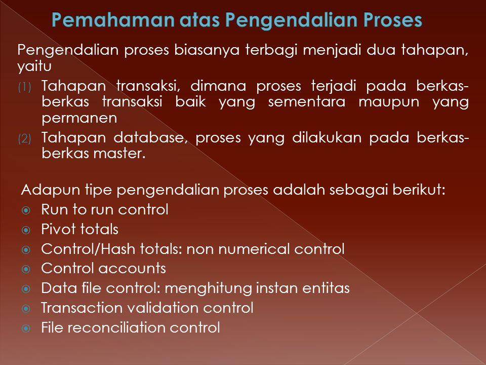 Pemahaman atas Pengendalian Proses