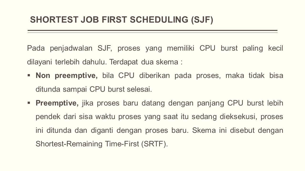 SHORTEST JOB FIRST SCHEDULING (SJF)